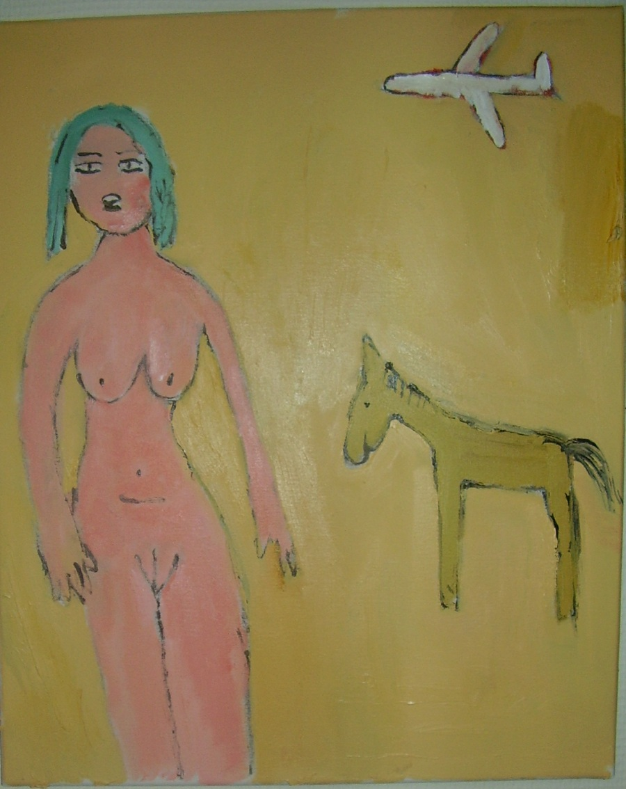 Woman and horse.