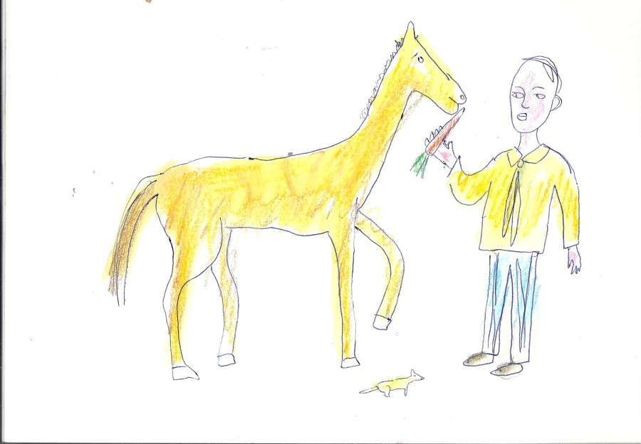 Carrot to a horse