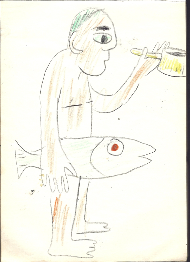 preparing salmon-soup