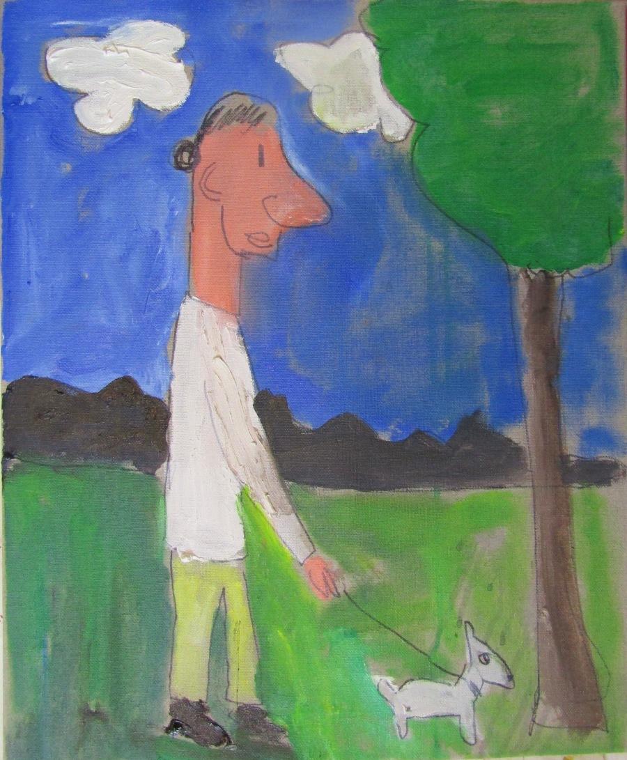 lanbda med hund